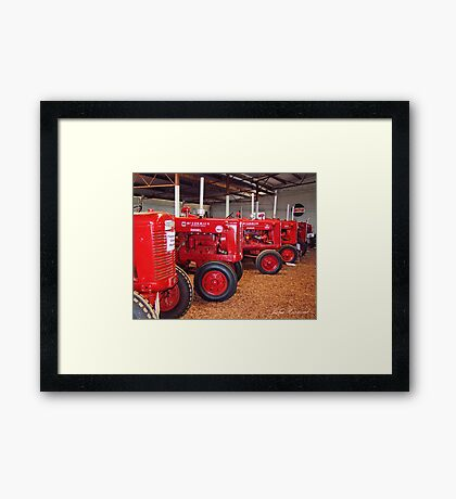 In the red Framed Print