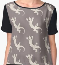 Lizard as a silhouette Chiffon Top