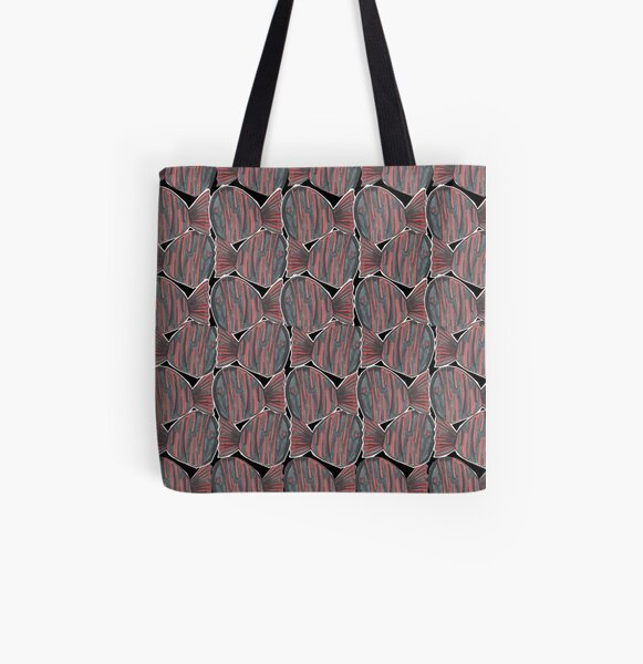 Funny Fishes All Over Print Tote Bag