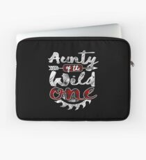 Aunty of the Wild One Shirt Lumberjack Woodworker Sawdust Buffalo Plaid measure once plaid pajamas cabinet maker contractor wood timber working tools Laptoptasche