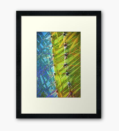 Cactus Poetry Framed Print