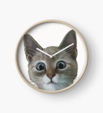 happy cat Clock