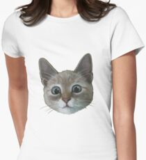 happy cat Fitted T-Shirt