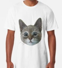 happy cat Long T-Shirt