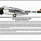 De Havilland Vampire FB9 Profile by coldwarwarrior