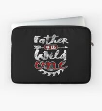 Father of the Wild One Shirt Lumberjack Woodworker Sawdust Buffalo Plaid measure once plaid cabinet maker contractor wood timber working tools Laptoptasche