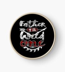 Father of the Wild One Shirt Lumberjack Woodworker Sawdust Buffalo Plaid measure once plaid cabinet maker contractor wood timber working tools Uhr