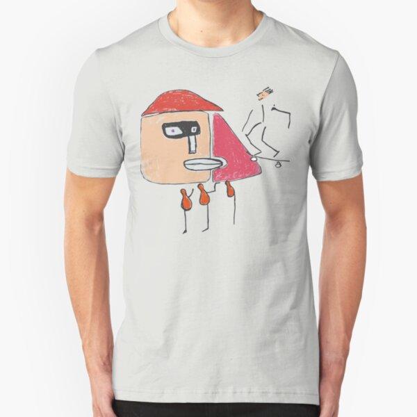 Ein Gangster, ein Skater und drei Einbeinige Slim Fit T-Shirt