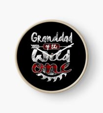 Granddad of the Wild One Shirt Lumberjack Woodworker Sawdust Buffalo Plaid measure once plaid pajamas cabinet maker contractor wood timber working tools Uhr