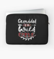 Granddad of the Wild One Shirt Lumberjack Woodworker Sawdust Buffalo Plaid measure once plaid pajamas cabinet maker contractor wood timber working tools Laptoptasche