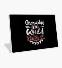 Granddad of the Wild One Shirt Lumberjack Woodworker Sawdust Buffalo Plaid measure once plaid pajamas cabinet maker contractor wood timber working tools Laptop Skin
