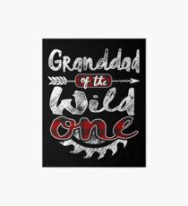 Granddad of the Wild One Shirt Lumberjack Woodworker Sawdust Buffalo Plaid measure once plaid pajamas cabinet maker contractor wood timber working tools Galeriedruck
