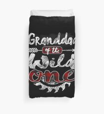Granddad of the Wild One Shirt Lumberjack Woodworker Sawdust Buffalo Plaid measure once plaid pajamas cabinet maker contractor wood timber working tools Bettbezug