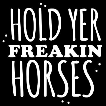Hold YER FREAKIN HORSES by jazzydevil