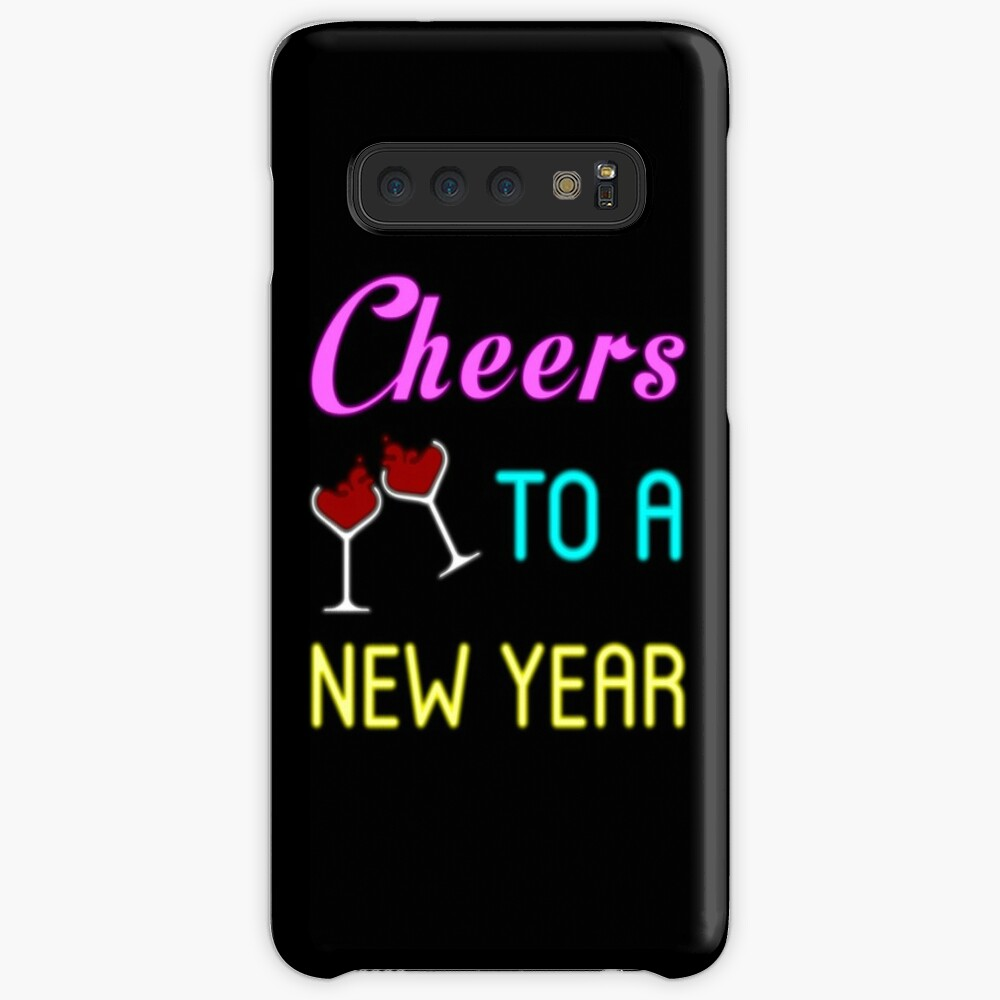 Cheers To A New Year Shirt Wine Glass New Years Eve 2019 T-shirt Case & Skin for Samsung Galaxy