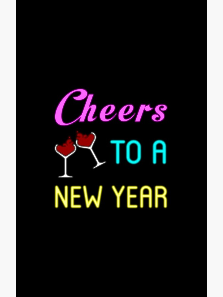 Cheers To A New Year Shirt Wine Glass New Years Eve 2019 T-shirt by fkassi10