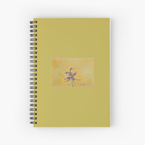 Glowing Columbine Spiral Notebook