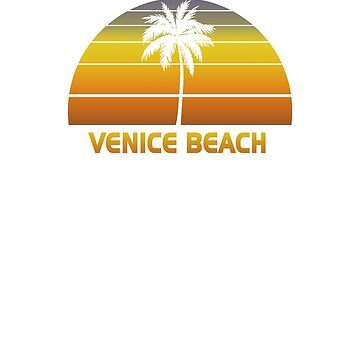 Vintage Venice Beach Beach Palm Tree Sunset Cool Family Vacation Souvenir by hlcaldwell