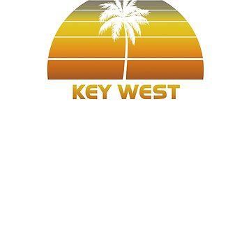 Vintage Key West Beach Palm Tree Sunset Cool Family Vacation Souvenir by hlcaldwell