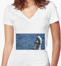 Boy with a thorn Women's Fitted V-Neck T-Shirt