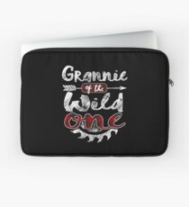Grannie of the Wild One Shirt Lumberjack Woodworker Sawdust Buffalo Plaid measure once plaid pajamas cabinet maker contractor wood timber working tools Laptoptasche