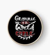 Grannie of the Wild One Shirt Lumberjack Woodworker Sawdust Buffalo Plaid measure once plaid pajamas cabinet maker contractor wood timber working tools Uhr