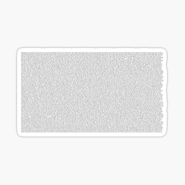 Plein Script Dirty Dancing Sticker