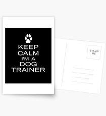 Behalten Sie ruhig, ich bin ein Hundetrainer Lustige Hundetraining Geschenkidee Postkarten
