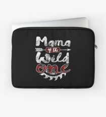 Mama of the Wild One Shirt Lumberjack Woodworker Sawdust Buffalo Plaid measure once plaid pajamas cabinet maker contractor wood timber working tools Laptoptasche