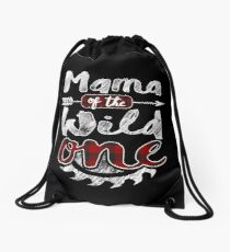 Mama of the Wild One Shirt Lumberjack Woodworker Sawdust Buffalo Plaid measure once plaid pajamas cabinet maker contractor wood timber working tools Rucksackbeutel