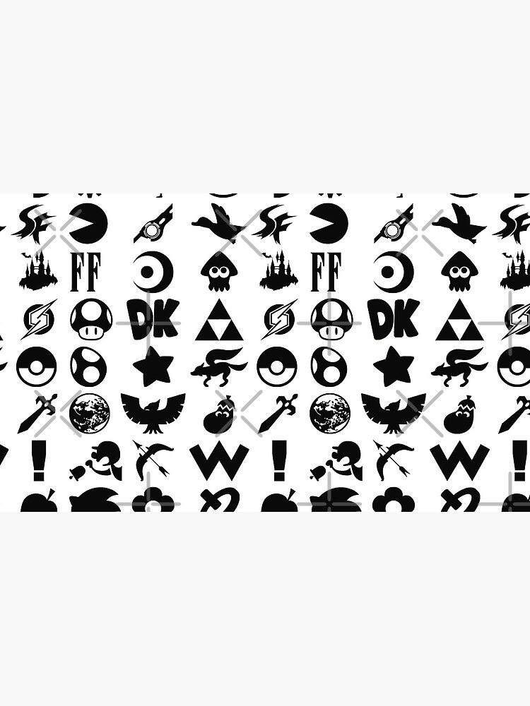 Super Smash Bros. Ultimate Series Logos   Black Icons by surik-