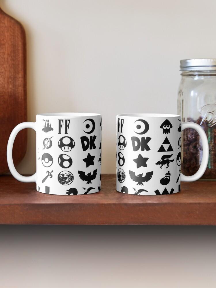 Alternate view of Super Smash Bros. Ultimate Series Logos   Black Icons Mug