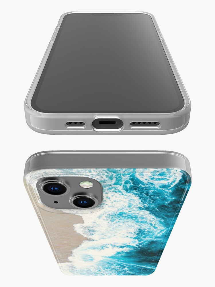 Alternate view of Blue waves iPhone Case