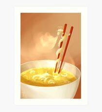 Noodle dragon Art Print