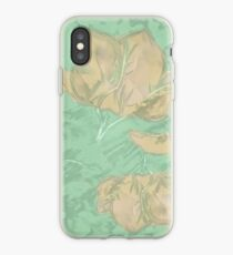 Abstract floral soft and light - vintage flowers and leaves iPhone Case