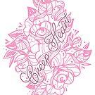Creep Heart Rose Eye Blossoms by Ella Mobbs