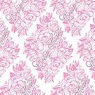 Creep Heart Rose Eye Blossom Pattern by Ella Mobbs