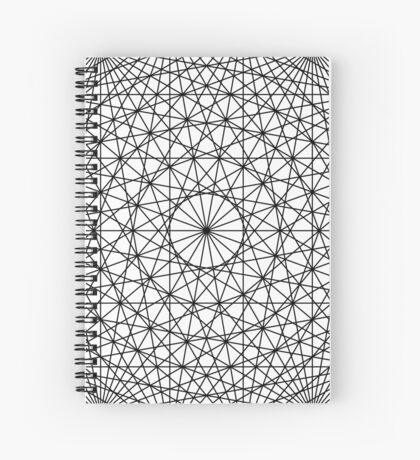 Dynamic Circle Chords II Black Spiral Notebook