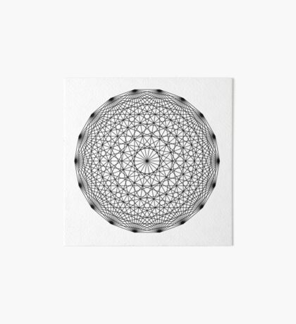 Dynamic Circle Chords II Black Art Board Print