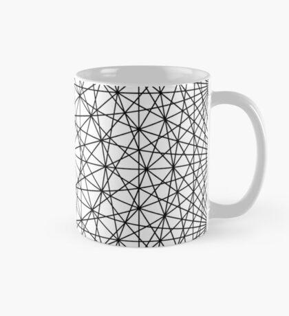 Dynamic Circle Chords II Black Mug
