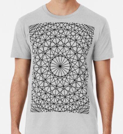 Dynamic Circle Chords II Black Premium T-Shirt