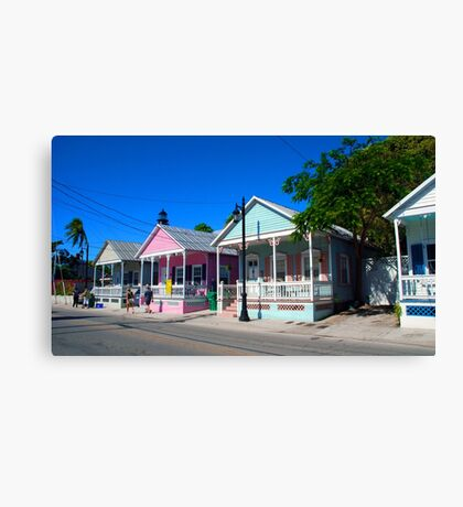 Key West Pastels Canvas Print