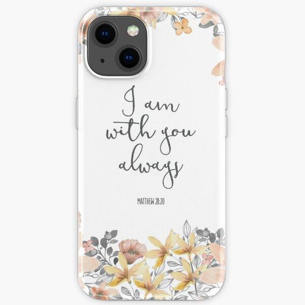 Bibel Vers Aquarell Blumen iPhone Flexible Hülle