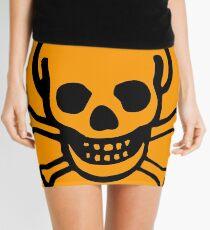 Skulls 2 by Chillee Wilson Mini Skirt