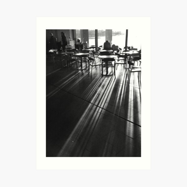 Cafe in Shadow Art Print
