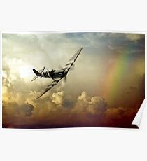 Spitfire Passing Through The Storm  Poster
