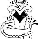 Simple Tattoo Skull Dagger Heart by Ella Mobbs