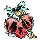 Skull Heart Locket by Ella Mobbs