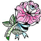 Cute Eyeball Rose Flower by Ella Mobbs