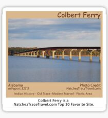 Colbert Ferry on the Natchez Trace Parkway. Sticker